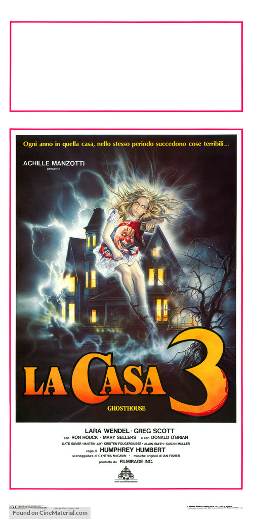 La casa 3 - Ghosthouse - Italian Movie Poster