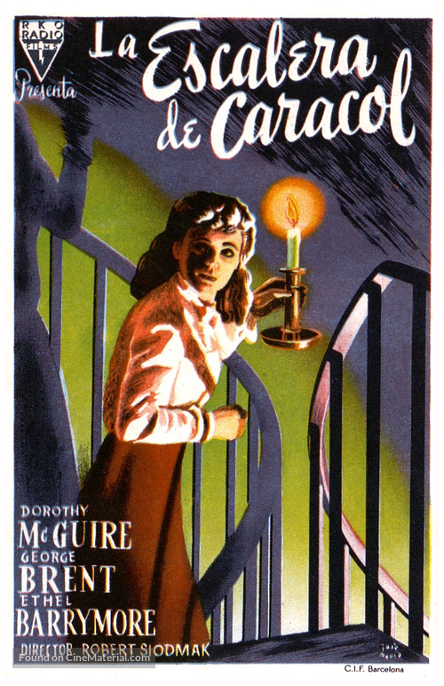 The Spiral Staircase Spanish Movie Poster