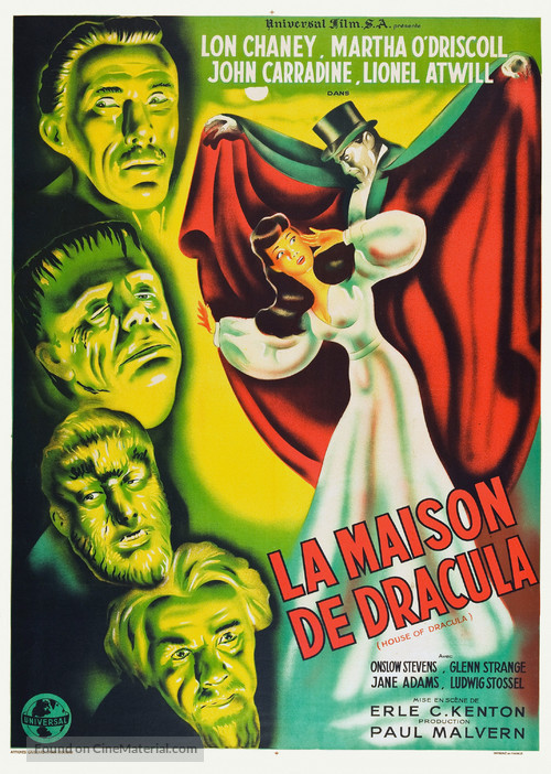 House of Dracula - French Theatrical poster