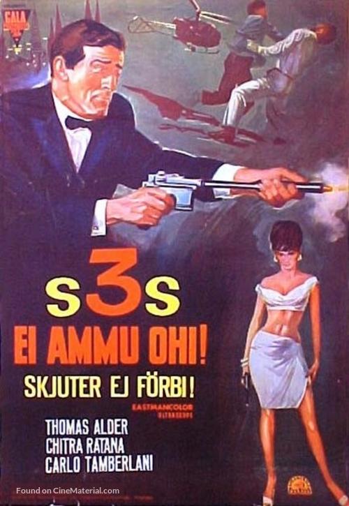 Der Fluch des schwarzen Rubin - Finnish Movie Poster