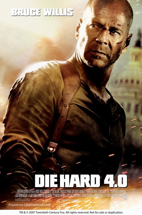Live Free or Die Hard - Movie Poster