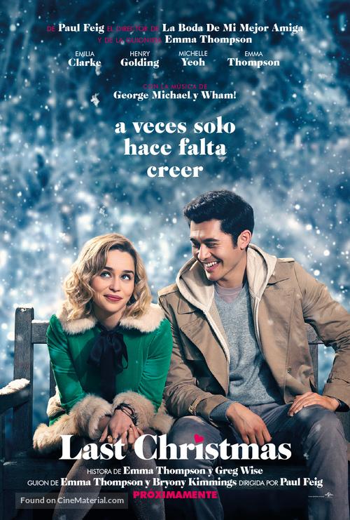 Last Christmas - Spanish Movie Poster