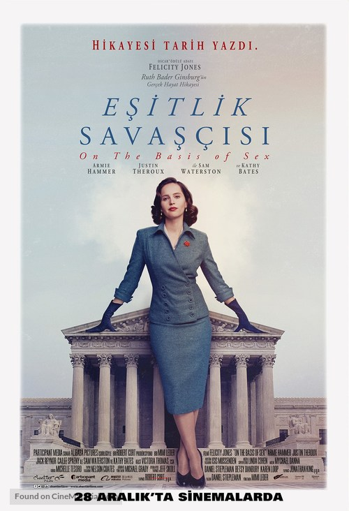On the Basis of Sex - Turkish Movie Poster