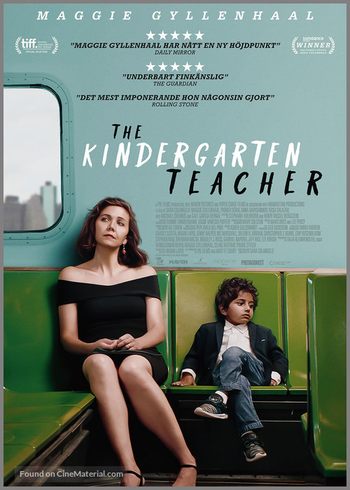 The Kindergarten Teacher - Swedish Movie Poster
