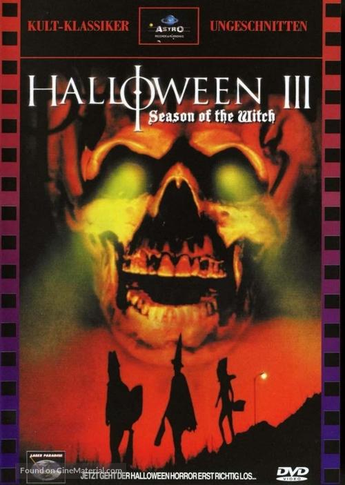 Halloween III: Season of the Witch - German DVD movie cover
