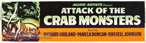 Attack of the Crab Monsters - Movie Poster
