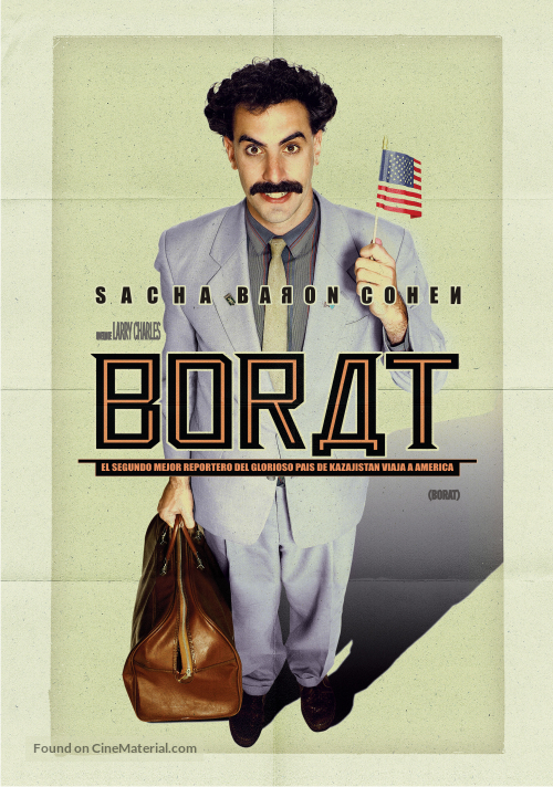 Borat: Cultural Learnings of America for Make Benefit Glorious Nation of Kazakhstan - Argentinian Movie Poster