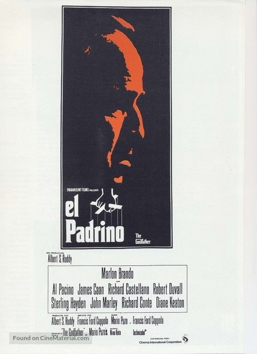 The Godfather - Spanish Movie Poster