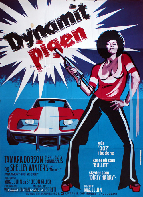 Cleopatra Jones - Danish Movie Poster