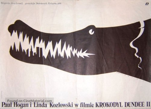 Crocodile Dundee II - Polish Movie Poster