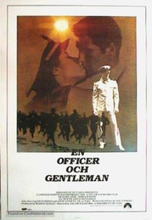 An Officer and a Gentleman - Swedish Movie Poster