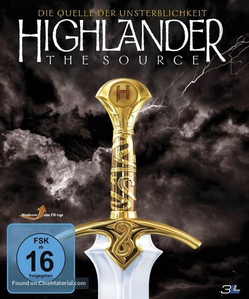 Highlander: The Source - German Blu-Ray cover