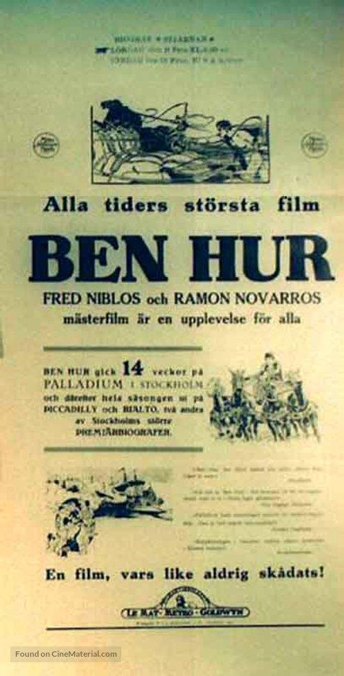 Ben-Hur - Swedish Movie Poster