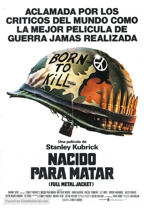 Full Metal Jacket - Argentinian Movie Poster