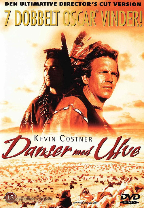 Dances with Wolves - Danish DVD cover