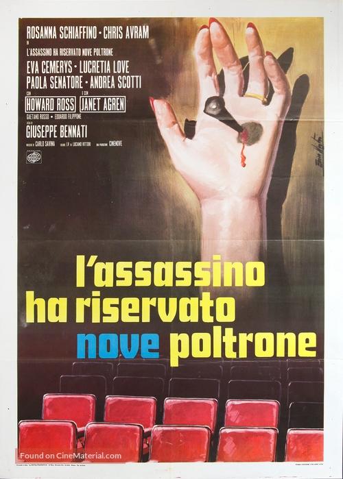 L'assassino ha riservato nove poltrone - Italian Movie Poster