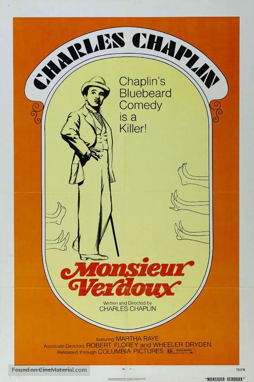 Monsieur Verdoux - Re-release movie poster