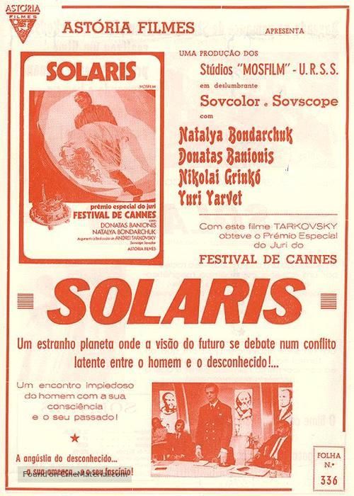 Solyaris - Portuguese poster
