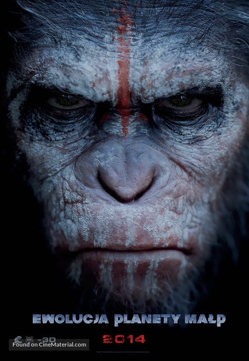 Dawn of the Planet of the Apes - Polish Movie Poster