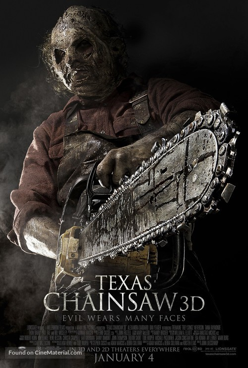 Texas Chainsaw Massacre 3D - Movie Poster