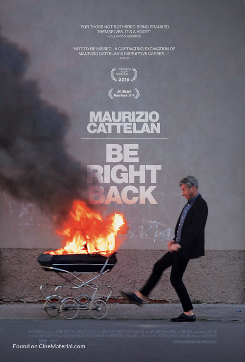 Maurizio Cattelan: Be Right Back - Movie Poster