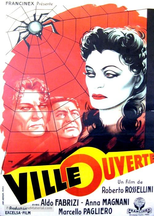 Roma, città aperta - French Movie Poster