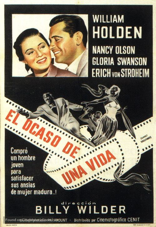 Sunset Blvd. - Argentinian Movie Poster