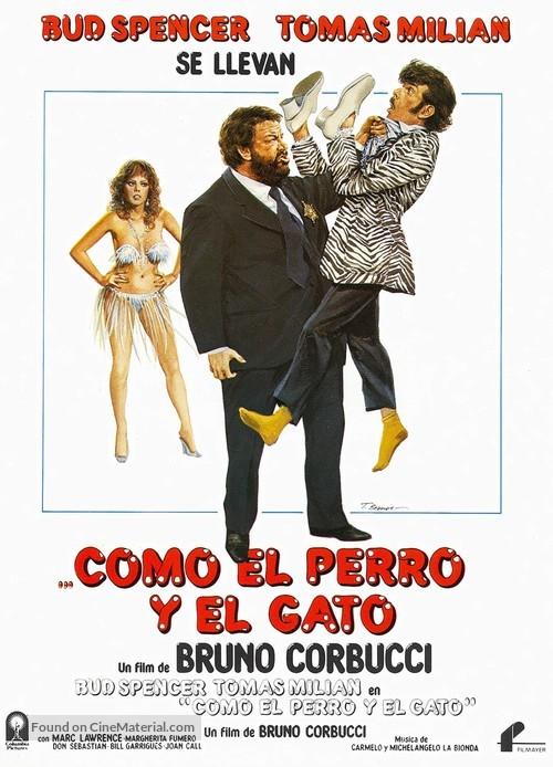 Cane E Gatto Spanish Movie Poster
