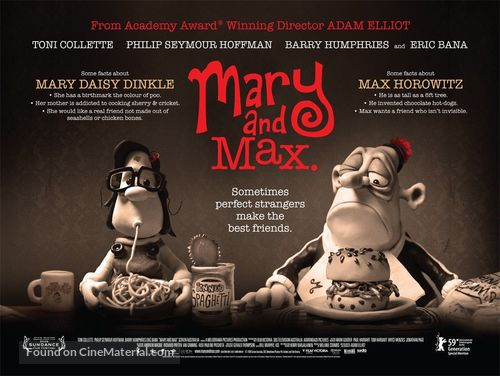 Mary and Max - British Movie Poster