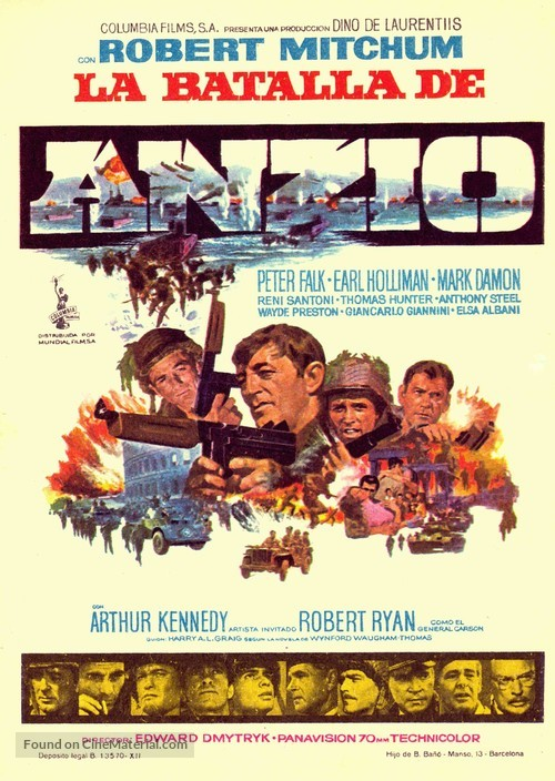 Anzio - Spanish Movie Poster