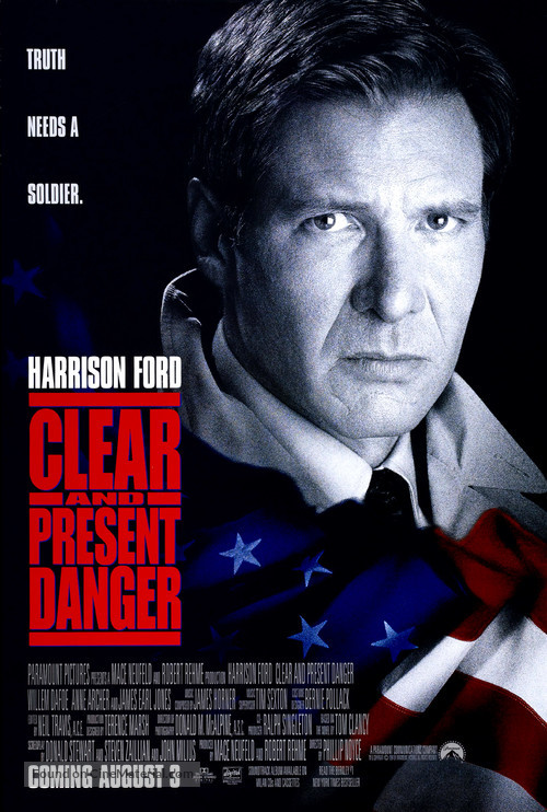 Clear And Present Danger - Movie Poster