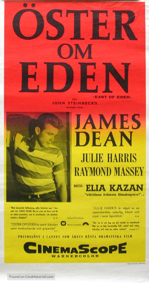 East of Eden - Swedish Movie Poster