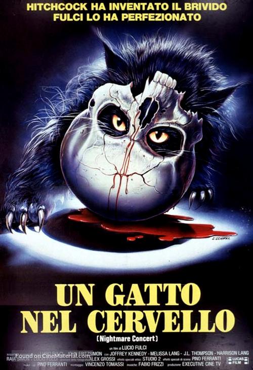 Un gatto nel cervello - Italian Movie Poster