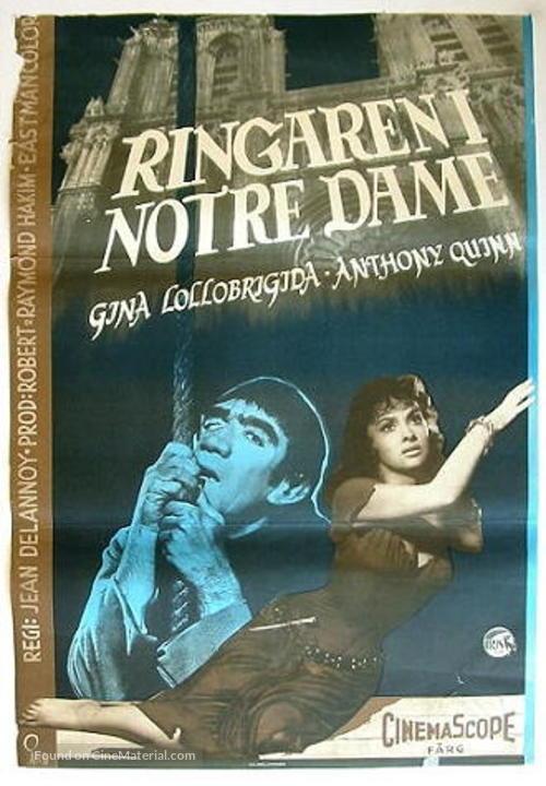 Notre-Dame de Paris - Swedish Movie Poster