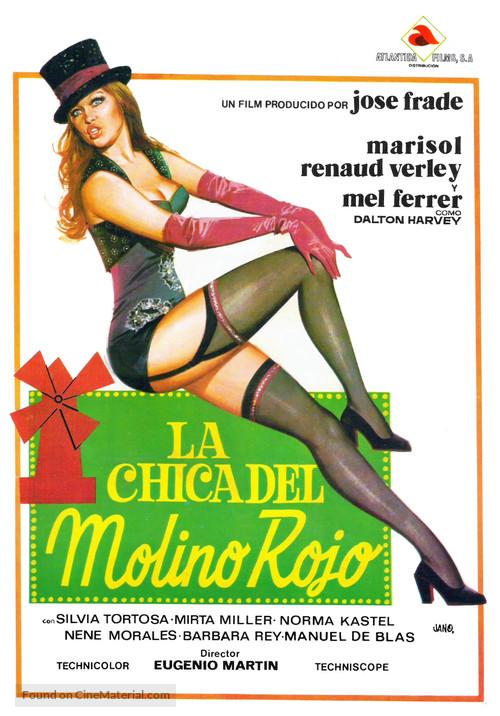 Chica del Molino Rojo, La - Spanish Movie Poster