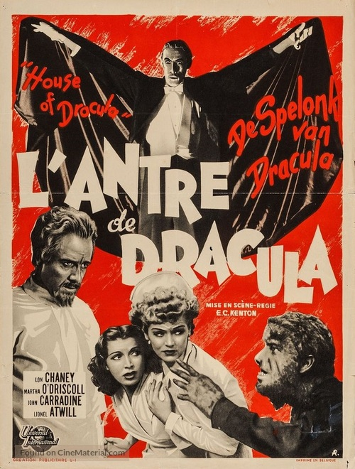 House of Dracula - French Movie Poster