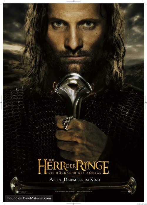 The Lord of the Rings: The Return of the King - German Movie Poster