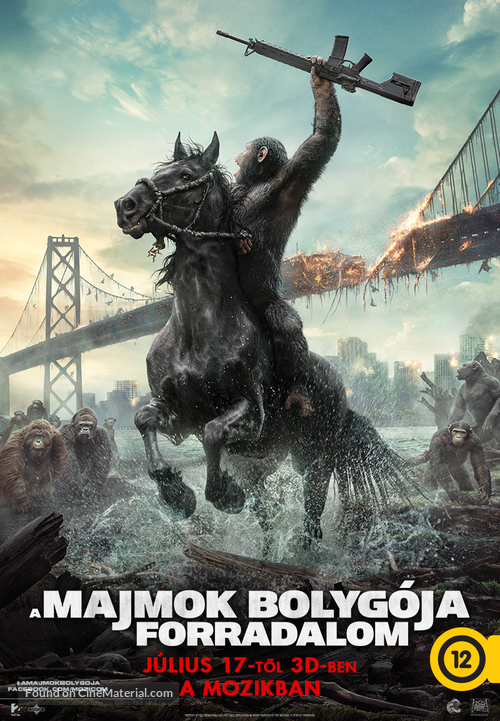 Dawn of the Planet of the Apes - Hungarian Movie Poster