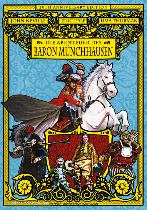 The Adventures of Baron Munchausen - German DVD movie cover