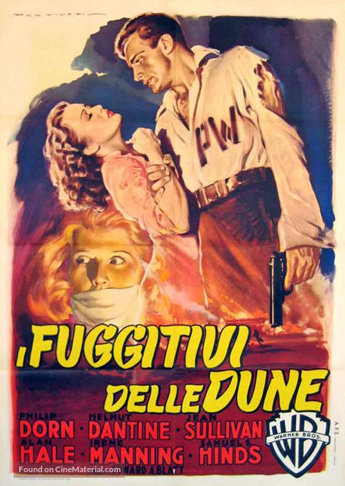 Escape in the Desert - Italian Movie Poster