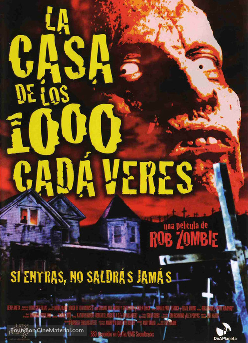 House of 1000 Corpses - Spanish Movie Poster