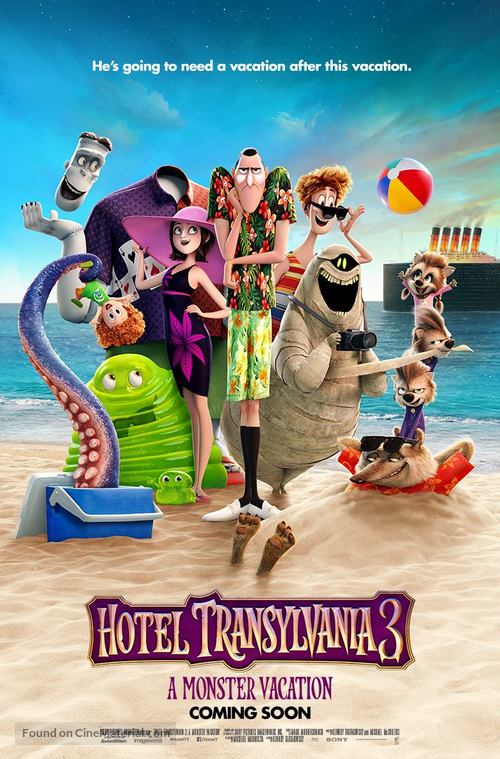 Hotel Transylvania 3: Summer Vacation - British Movie Poster
