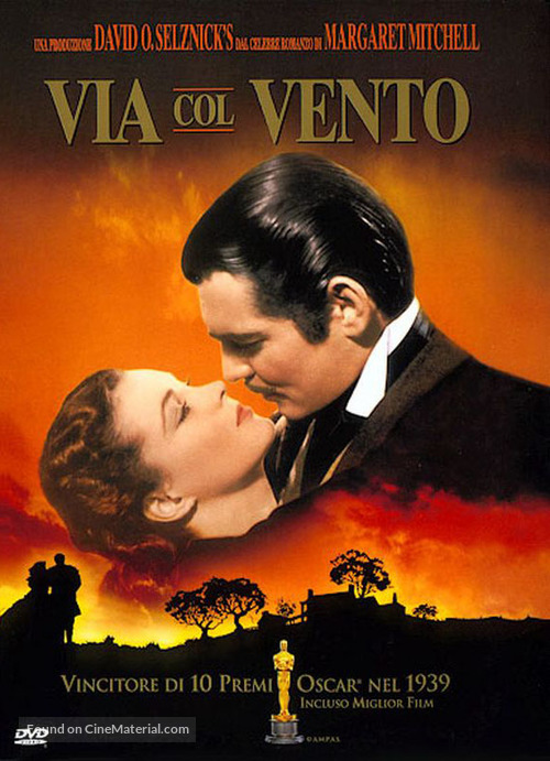 Gone with the Wind - Italian DVD movie cover