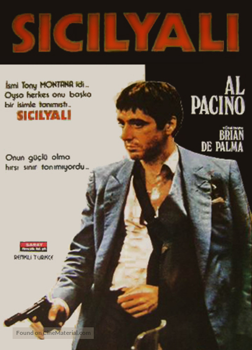 Scarface - Turkish Movie Poster