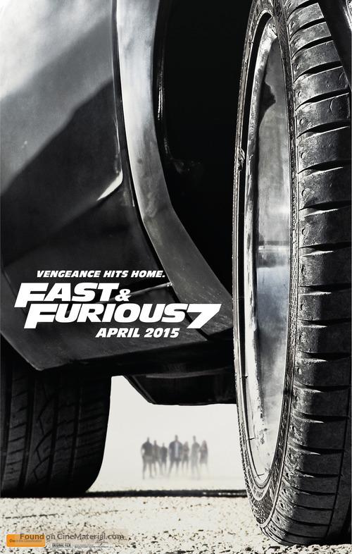 Furious 7 - Australian Movie Poster