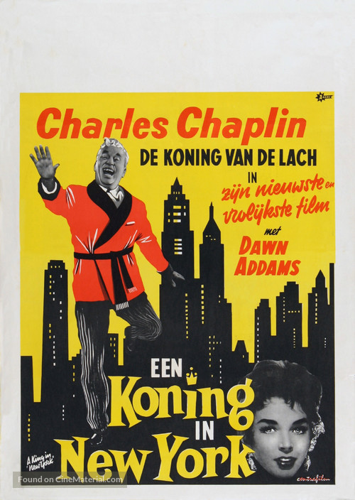A King in New York - Dutch Movie Poster