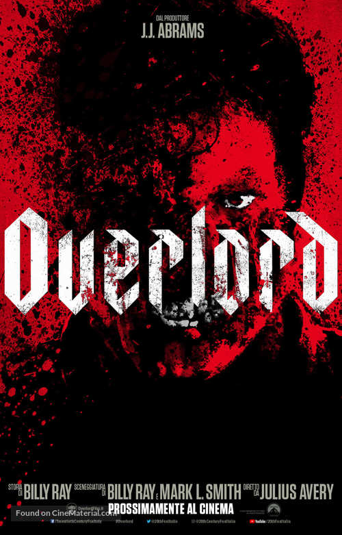 Overlord - Italian Movie Poster