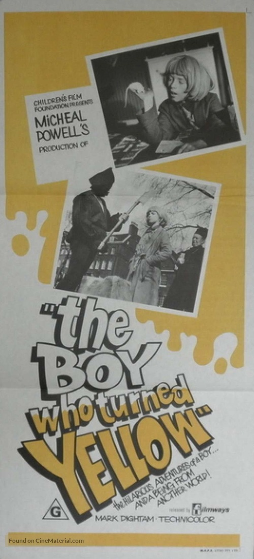 The Boy Who Turned Yellow - Australian Movie Poster