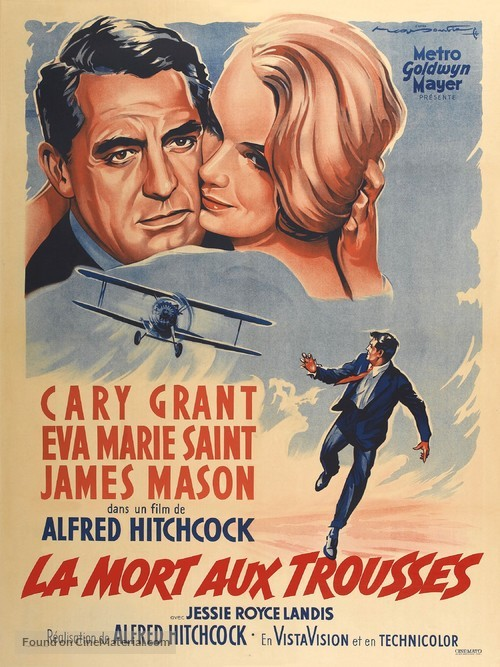 North by Northwest - French Movie Poster