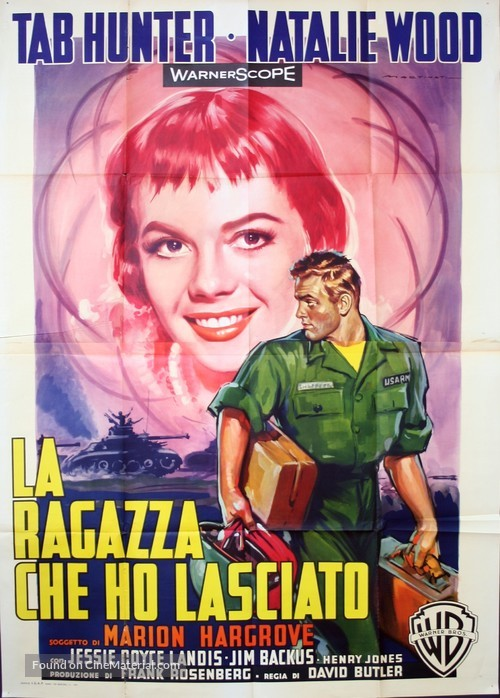 The Girl He Left Behind - Italian Movie Poster